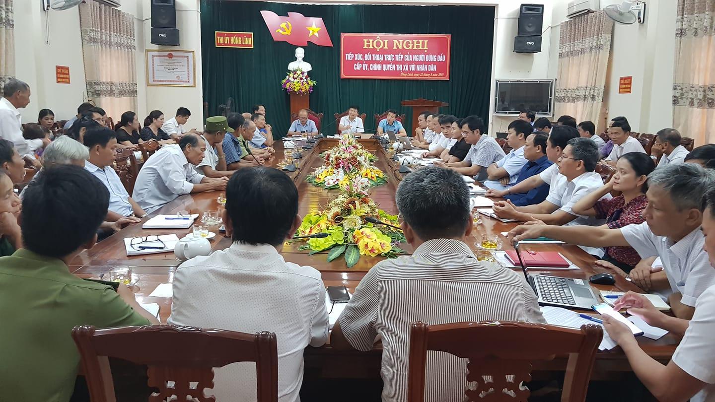 Một cuộc đối thoại của người đứng đầu cấp ủy, chính quyền thị xã Hồng Lĩnh với người dân