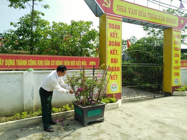 Người cựu chiến binh hết lòng với phong trào xây dựng nông thôn mới