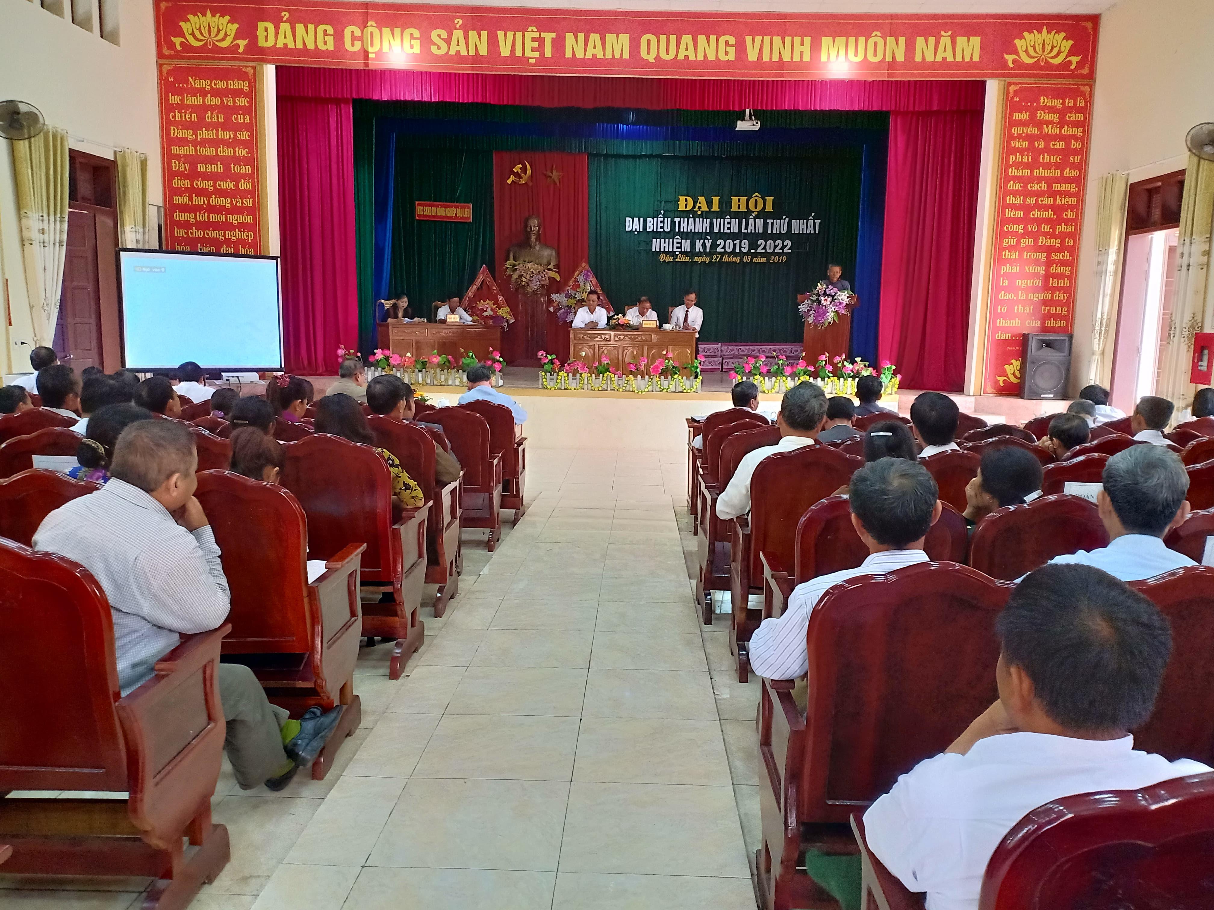 Đại hội đại biểu thành viên Hợp tác xã Dịch vụ nông nghiệp phường Đậu Liêu, nhiệm kỳ 2019 - 2022