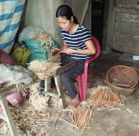 Phát triển làng nghề đũa cau tại xã Phúc Trạch