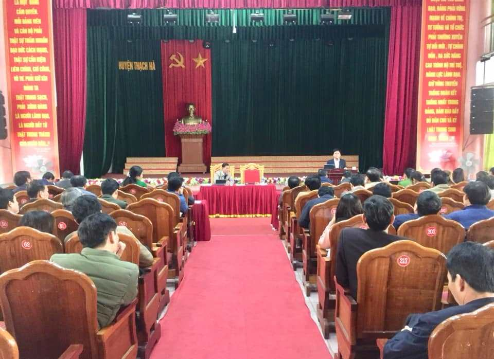 Huyện ủy tổ chức Hội nghị soát xét, bổ cứu công tác chuẩn bị tổ chức đại hội đảng